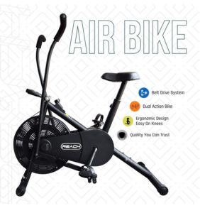 Reach Air Bike Exercise Cycle with Moving Handles