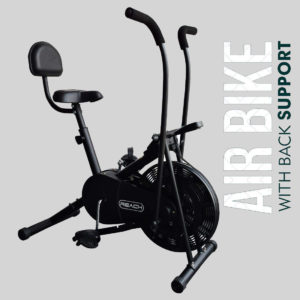 Reach AB-110 Air Bike Exercise Fitness Cycle with Handle Adjustments Air Bike India 2020