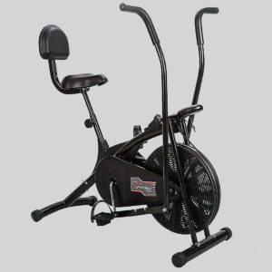 Powermax Fitness Air Bike with back support and moving handles Top 3 Best Air Bike India 2020