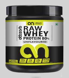 Abbzorb Nutrition Raw Whey Protein Powder under 500