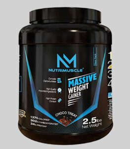 NUTRIMUSCLE MASSIVE WEIGHT GAINER Whey Protein Powder under 500